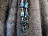 Красивое ожерелье с камнем лабрадор. Индия!, фото 3