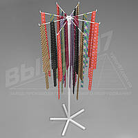 Стойка - вертушка для галстуков, для ремней, для сумок. 8 лучей.