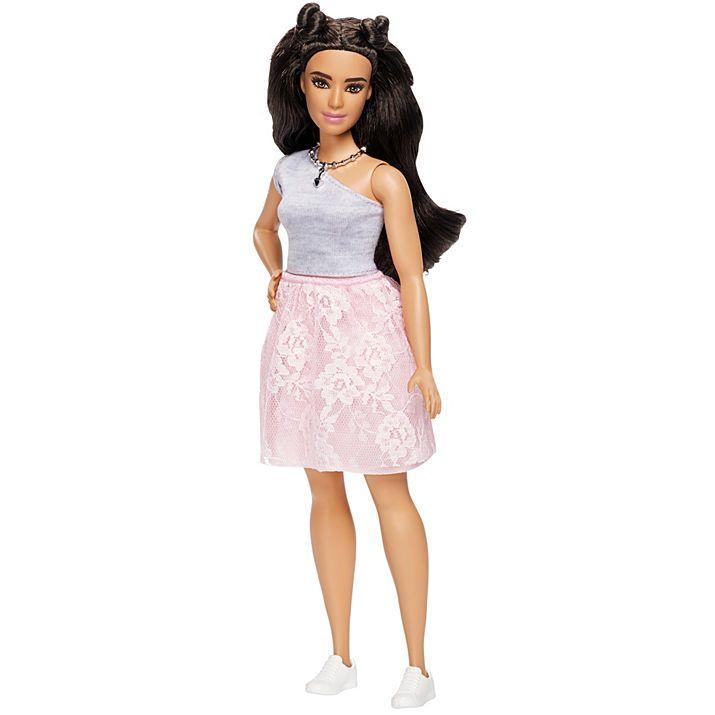 """Кукла Барби """"Модница"""" 2017 - Пышная / Barbie Fashionista 65 Powder Pink Lace – Curvy"""