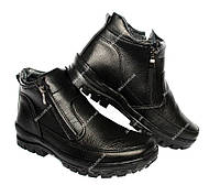 Зимние ботинки на две молнии для мужчин (ПБ-29ч)