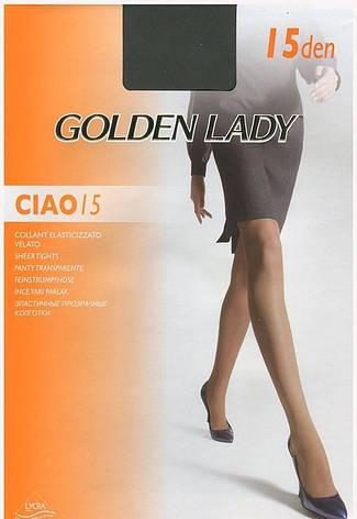 Колготки GOLDEN LADY CIAO 15 2 (S) 15 DAINO (легкий загар), фото 2