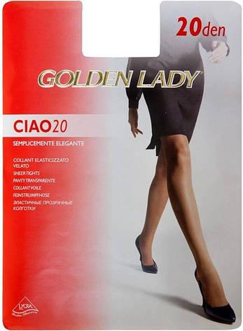 Колготки GOLDEN LADY CIAO 20 2 (S) 20 DAINO (легкий загар), фото 2