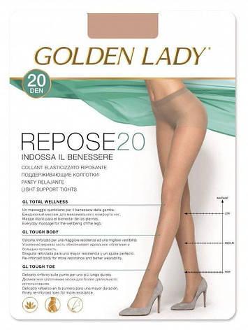 Колготки GOLDEN LADY REPOSE 20 2 (S), DAINO (легкий загар), 20, фото 2