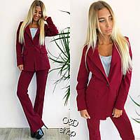 Костюм женский классический пиджак на подкладке и брюки 2 цвета Dp46