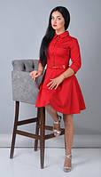 Красное платье для повседневных встреч
