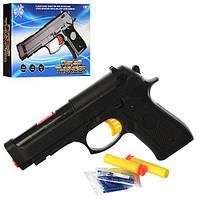 Пистолет 705 (144шт) 19см, водяные пули, пули-присоски 2шт, в кор-ке, 19,5-13-4см