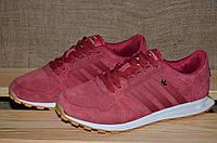 Мужские кроссовки  Adidas Originals (430 темно - малиновые)