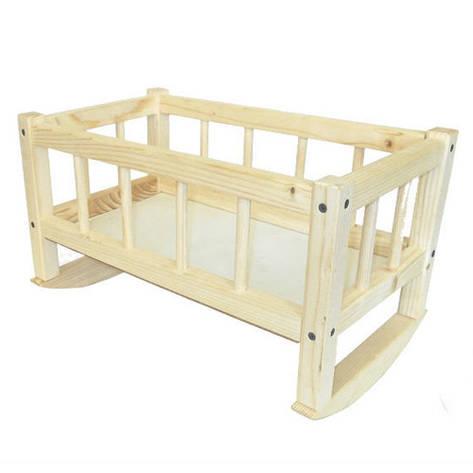 Кроватка для кукол 172016  25*45*35смм(разобр.) СМЕРЕКА ТМ Дерево, фото 2