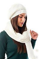 Женская шапка с шарфом
