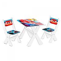 """Столик и два стульчика деревянные """"Тачки"""" М 2100-05"""