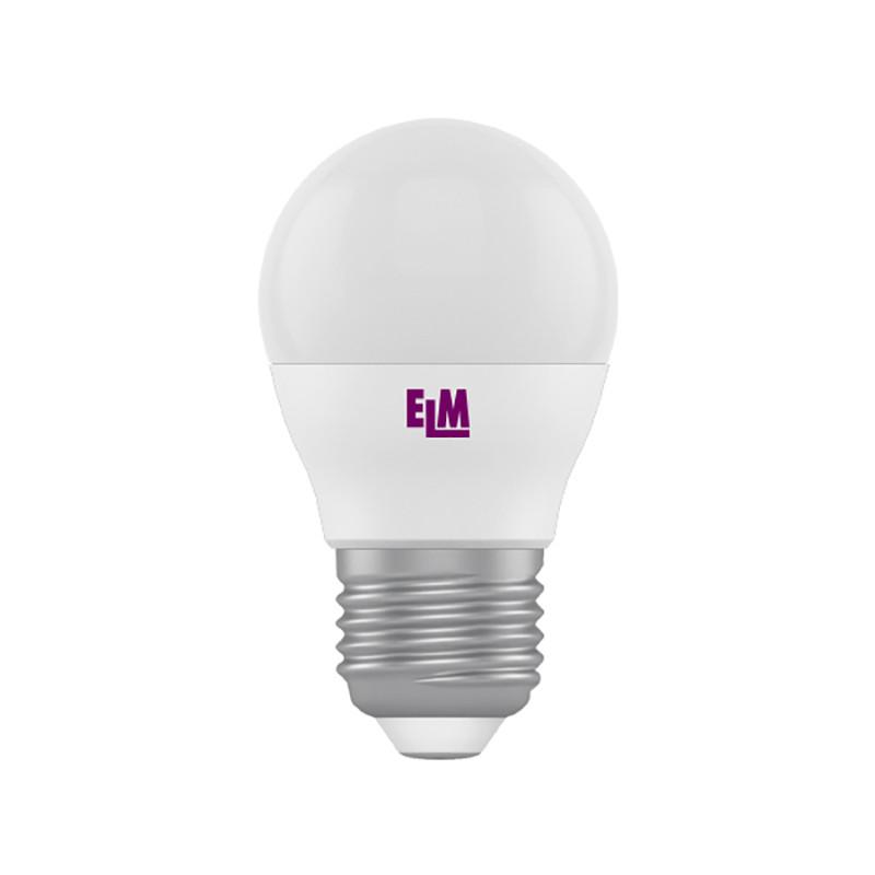 18-0075 LED лампа ELM шар 5W E27 4000K D45