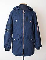 Куртка парка детская и подростковая синего цвета, фото 1