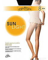 Колготки OMSA sun light 8 2 (S) 8 NERO (черный)