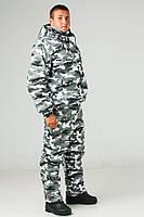 Костюм камуфляжный зимний большого размера (62-64 размеры)