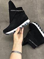 Женские ботинки верх замша весна-осень 0042КОМ