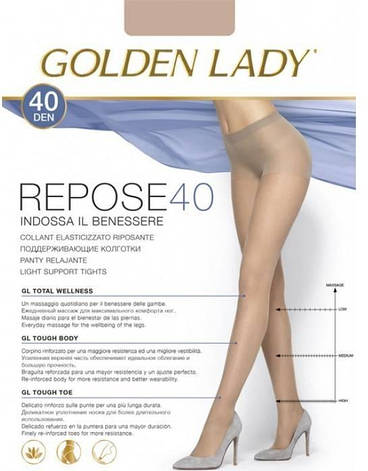 Колготки GOLDEN LADY REPOSE 40 2 (S), DAINO (легкий загар), 40, фото 2