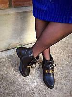 Женские ботинки верх замша/кожа натуральная весна-осень 0043КОМ