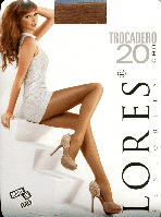 Колготки классика Lores Rivoli (Trocadero) 20 den Темно-серый 4