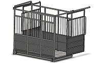 Весы для взвешивания коров, овец и свиней до 1500 кг с раздвижными дверьми 4BDU-1500X-Р, 1250х1500 мм БЮДЖЕТ