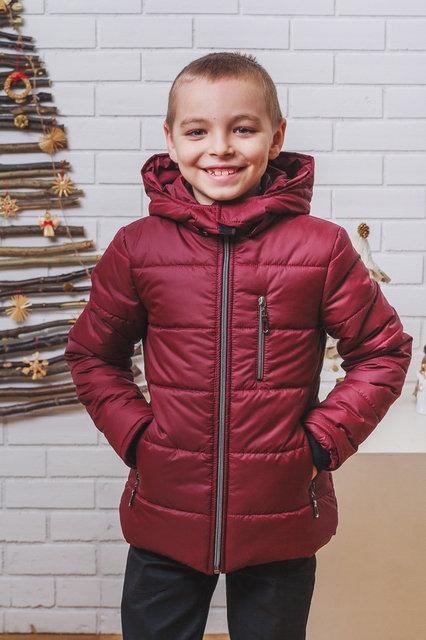 """Зимняя курточка на мальчика """"Ярик"""" бордо"""