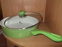 Сковородка керамическая глубокая итальянская диаметр 24 см