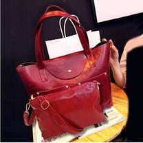 Большая вместительная сумка+клатч, набор, фото 2