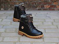 Зимние подростковые ботинки Timberland Черные 10320