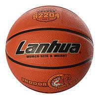 Мяч баскетбольный S 2204 (25шт) размер6,рисунок-печать,540-580г,в кульке,