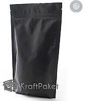 Пакет дой пак zip-замок  210*380  черный  с клапаном