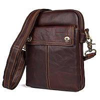"""Мужская сумка """"Cross Body-5X brown"""" из натуральной кожи"""