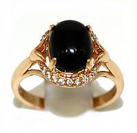 Кольцо фирмы Xuping.Цвет: позолота .Камни: белый циркон и чёрный агат. Есть 16 р. 17 р.
