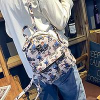 Модный детский рюкзак с мишками на велосипедах