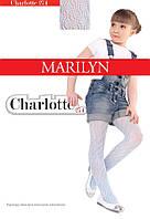 Детские колготы жаккардовые MARILYN CHARLOTTE 274 Белый 128-146