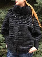 Меховая куртка нутрия, рекс и норка