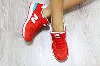Кроссовки New Balance 574 замша цвет красный