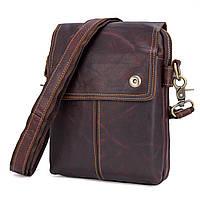 """Мужская сумка """"Cross Body-3X brown"""" из натуральной кожи"""