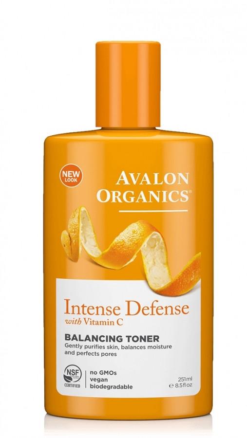 Балансирующий тоник с витамином С, биофлавоноидами лимона и экстрактом белого чая, 251мл, Avalon Organics