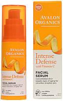 Cыворотка для кожи лица с витамином С, биофлавоноидами лимона и экстрактом белого чая, 30мл, Avalon Organics