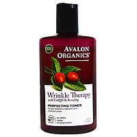 Выравнивающий тоник против морщин с коэнзимом Q10 и маслом шиповника, 237мл, Avalon Organics