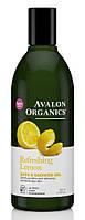 Гель для ванны и душа с глицерином Лимон, 355мл, Avalon Organics