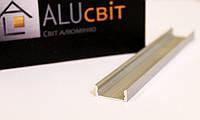 Светодиодный алюминиевый LED профиль ЛП 7  анодированный серебро (для светодиодных лент)