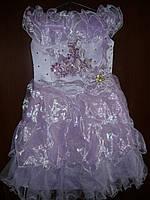 Шикарное сиреневое платье для юной принцессы