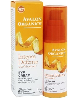 Крем для кожи вокруг глаз с витамином С, биофлавоноидами лимона и экстрактом белого чая, 29г, Avalon Organics