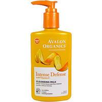 Очищающее молочко с витамином С, биофлавоноидами лимона и экстрактом белого чая, 251мл, Avalon Organics