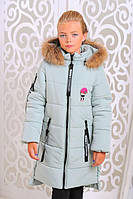 Зимняя куртка для девочки «Ника»,лед