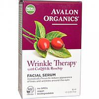 Сыворотка для кожи лица против морщин с коэнзимом Q10 и маслом шиповника, 16мл, Avalon Organics