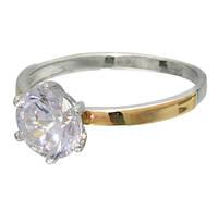 """Женское серебряное кольцо с золотыми пластинами """"Нимфа"""""""