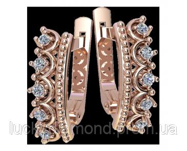 Золотые серьги Корони