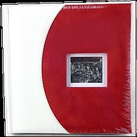 Красно-белый фотоальбом на 200 фото из кожзама