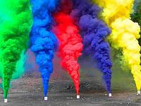 Набор Дыма 6 разных цветов, цветной дым для фотосессии